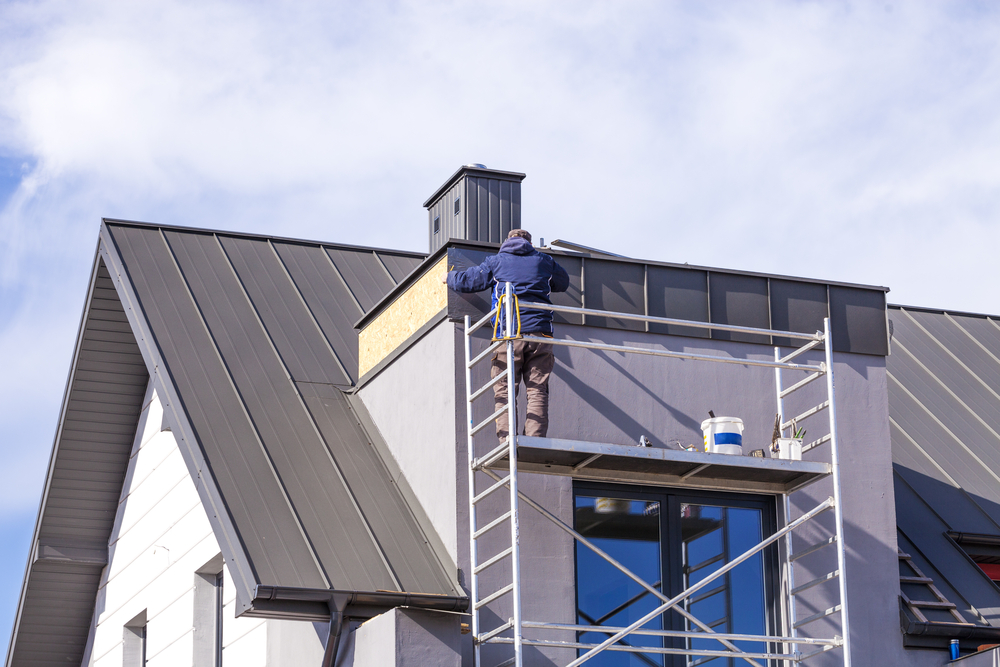 外壁塗装養生の注意イメージ